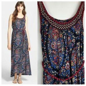 Lucky Brand Paisley PrintHi Lo Maxi Dress Sz M